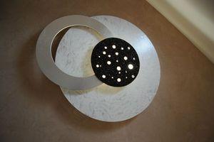 Clementine De La Tour - eclipse lumineuse blanc nacre - Leuchtende Gemälde