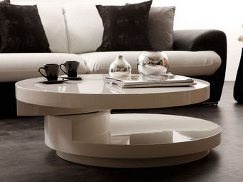 Miliboo - glossy table basse - Runder Couchtisch