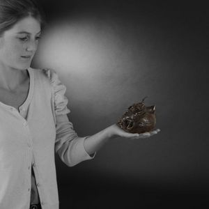 Expertissim - brûle-parfum en forme de pêche de longévité - Räuchergefäß