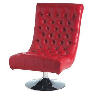 Maisons du monde - fauteuil rouge mini bossley - Chesterfield Sessel