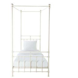 MAISONS DU MONDE - en métal blanc syracuse - Einzel Himmelbett