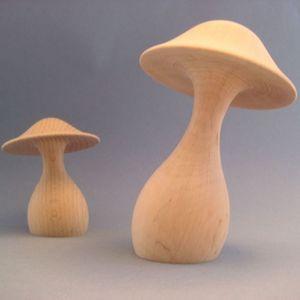 LITTLE BOHEME - champignon en bois tourné promenons-nous dans les  - Weihnachtsschmuck