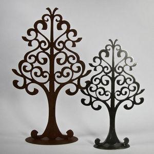 YAN HUBLOT - arbre à bijou en métal noir symétrique - Schmuckständer