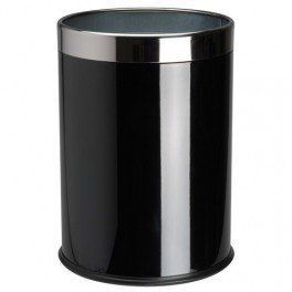 La Chaise Longue - corbeille à papiers en métal noir 22,5x29cm - Küchenabfalleimer
