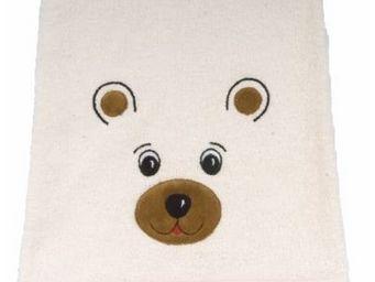 SIRETEX - SENSEI - drap de douche enfant 70x140cm en forme d'ours - Kinder Handtuch