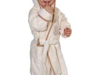 SIRETEX - SENSEI - peignoir enfant brodé lili la girafe - Kinderbademantel