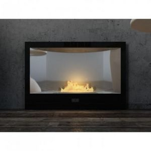 WHITE LABEL - chemine bio thanol classica noir laque - Kamin Ohne Rauchabzug