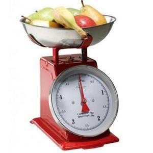Delta - balance de cuisine métal rouge - couleur - rouge - Elektronische Küchenwaage