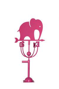 Aubry-Gaspard - girouette design éléphant rose - Wetterfahne