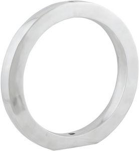 KOKOON DESIGN - vase design rondo en aluminium poli 41x4x41cm - Stielvase
