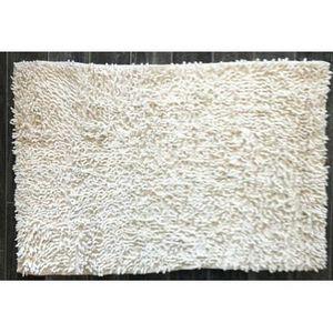TODAY - tapis salle de bain à mèche blanc cassé - Badematte