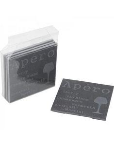 Aubry-Gaspard - 4 dessous de verre ardoise - Glasuntersetzer