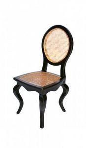 Demeure et Jardin - chaise cannée - Medaillon Stuhl