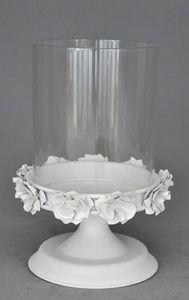 Demeure et Jardin - photophore blanc - Windlicht