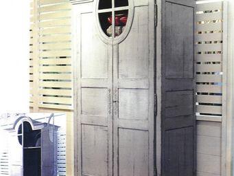 PROVENCE ET FILS - armoire grenier version penderie avec 3 tiroirs sé - Kleiderschrank