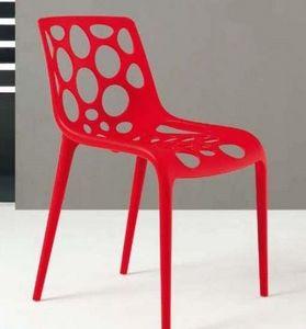 Calligaris - chaise empilable hero de calligaris rouge - Gartenstuhl