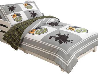KidKraft - parure de lit 4 pièces chevalier en polyester et m - Kinderbettwäscheset