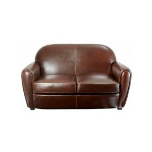 DECO PRIVE - canapé en cuir marron by cast choco 2 places - Clubsofa