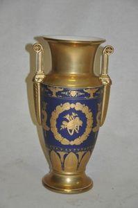 Demeure et Jardin - vase bleu style empire grand modèle - Ziervase