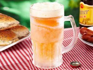 WHITE LABEL - la chope bière réfrigérante xxl 650 ml doré shoote - Halbliterglas