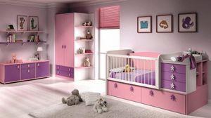 WHITE LABEL - chambre bébé évolutive en chambre d'enfant aloha. - Kinderbett