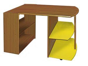 WHITE LABEL - bureau enfant en pin massif coloris antique et ja - Kinderschreibtisch