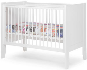 WHITE LABEL - lit bébé à barreaux 60x120cm coloris blanc - Baby Reisebett