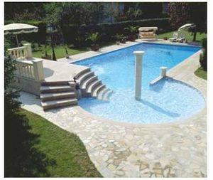 Marbrerie Des Yvelines -  - Swimmingpooltreppe