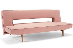 INNOVATION - canapé design puzzle wood soft corail convertible  - Klappsofa