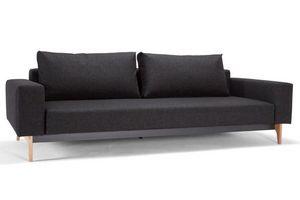 INNOVATION - idun canapé design noir twist black convertible li - Bettsofa