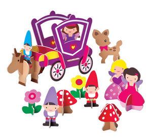 KROOOM-EXKLUSIVES FUR KIDS - figurines 3d fée orla et ses amis - Puppenhaus