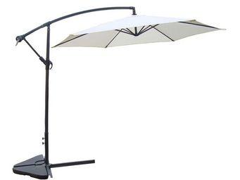 WHITE LABEL - parasol déporté ecru 3 m - farniente - l 300 x l 3 - Ampelschirm