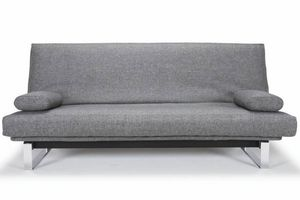 WHITE LABEL - innovation living clic clac minimum gris twist cha - Klappsofa