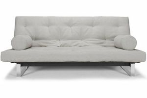 WHITE LABEL - innovation living clic clac minimum capitonné beig - Klappsofa
