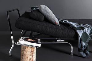 WHITE LABEL - innovation living skater bz noir design convertibl - Klappsofa