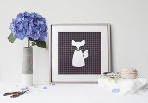 la Magie dans l'Image - print art renard blanc - Poster