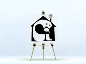 la Magie dans l'Image - toile ogre maison noir & blanc - Digital Foliendruck