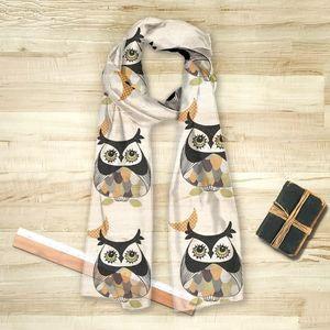 la Magie dans l'Image - foulard chouette 2 - Vierecktuch
