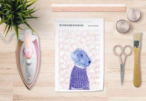 la Magie dans l'Image - papier transfert mon petit chien fond rose - Verlegung