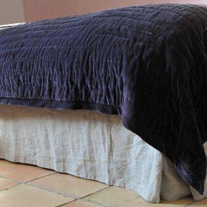 MAISON D'ETE - cache sommier lin lavé naturel - Bettkasten