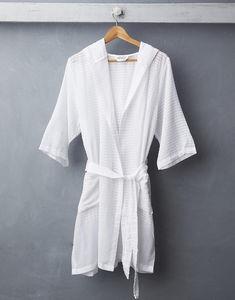 ATOLYIA - plaj robe en blanc - Morgenmantel