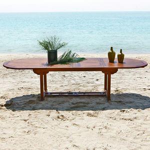 BOIS DESSUS BOIS DESSOUS - table de jardin en bois de teck huilé bali 10/12 p - Ausziehbarer Gartentisch
