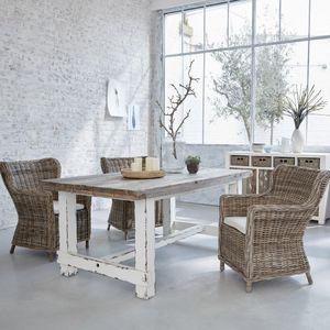 BOIS DESSUS BOIS DESSOUS - table en bois de pin recyclé rectangulaire 180 atl - Rechteckiger Esstisch