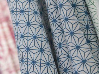 THEVENON - soleil d'orient bleu - Bedruckter Stoff