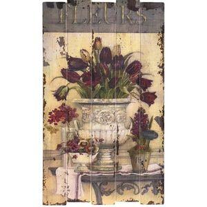 CHEMIN DE CAMPAGNE - tableau cadre en bois peint - Dekobilder