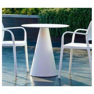PEDRALI - table ikon blanche - Garten Esszimmer