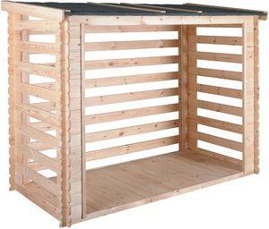 JARDIPOLYS - abri bûches avec plancher 3,5 stères come - Kaminholzregal