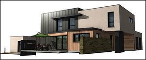 SCC IMMOBILIER - archi design - Geschossiges Haus