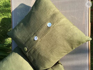 LA VILLA HORTUS - vert lin - Kissen Quadratisch