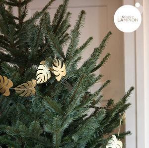 SOUS LE LAMPION - feuilles dorées - Weihnachtskette